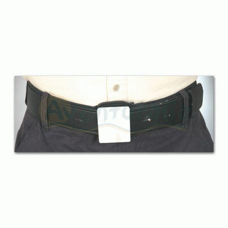 Cinturón 50 mm color negro con hebilla lisa niquel-Vigilante Seguridad