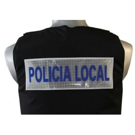 Logo Policia Local Reflectante Chaleco