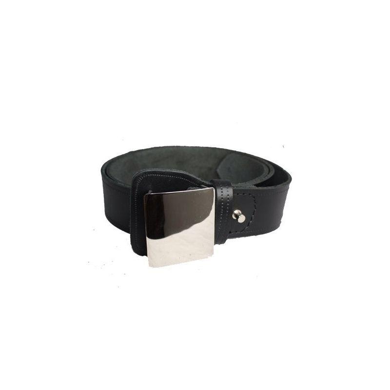 Cinturón Vigilante Seguridad de Cuero con Chapa Metálica