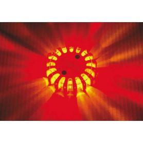 Baliza señalización vial con luz LED rojo, recargable