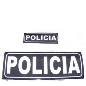 Logos CON VELCRO para chaleco Policia, Guardia Civil, Policía Local