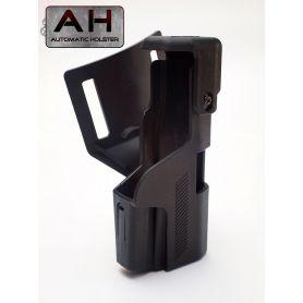 Funda Glock, Doble Seguridad y Pistola Montada al Salir.