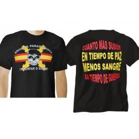 CAMISETA BRIGADA PARACAIDISTA- BRIPAC CALAVERA