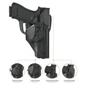 Funda Pistola con sistema anti hurto, disponible para Glock 17/19 y Beretta 92/98/90A1