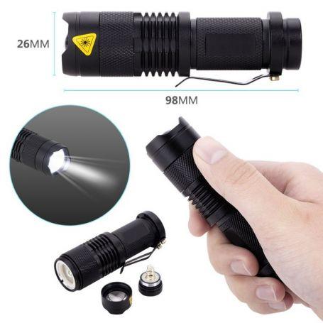 Linterna Policial, Recargable, Cargador y Bateria Incluido