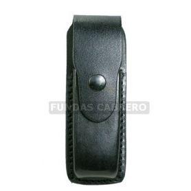 Funda cargador pistola, cuero 15 cartuchos vertical