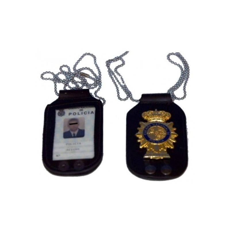 PORTA PLACA DE CUELLO POLICIA NACIONAL c1c0234385dd