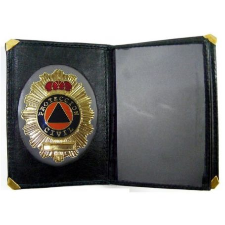 Cartera Protección Civil con billetero y Placa