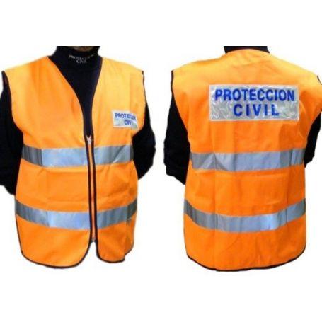 Chaleco reflectante protección civil