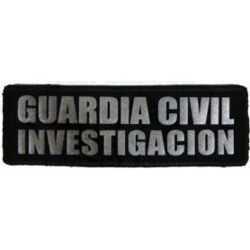 Parche Investigación Guardia Civil Reflectantes con Velcro