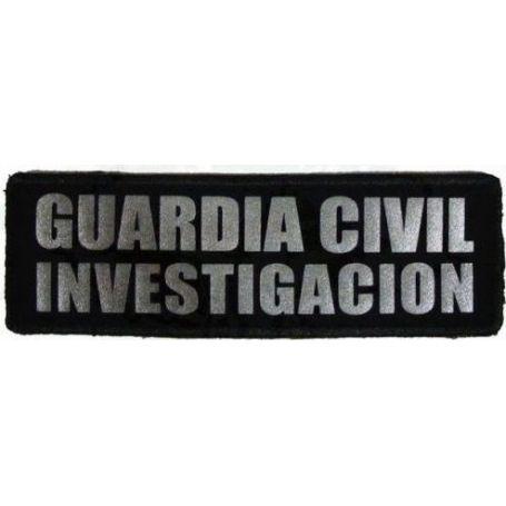 Parche Investigación Guardia Civil Reflectantes con Velcro