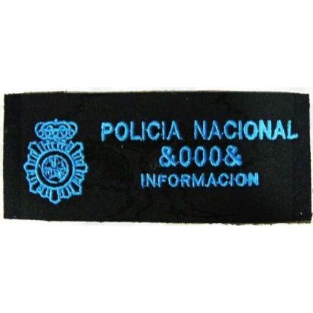 Parche Policía Nacional Galleta Bordada con Número Agente