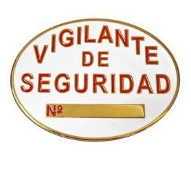 PLACA VIGILANTE DE SEGURIDAD METÁLICA HOMOLOGADA