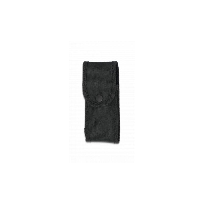 Funda nylon acolchada 14 x 6 cm. Negra