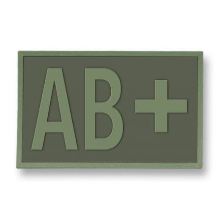 Parche Táctico goma ( AB+ ) Verde.