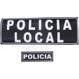 Parche Policía Local, Policia, Guardia Civil con Velcro Para Chaleco Antibalas