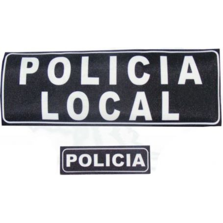 Parche Policía Local, Policia, Guardia Civil con Velcro Para Chaleco Antibalas