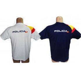 Camiseta Policia con Bandera España