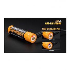 Batería linterna 3500 mAh recargable por Micro USB