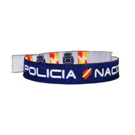 Pulsera Policía Nacional de Tela