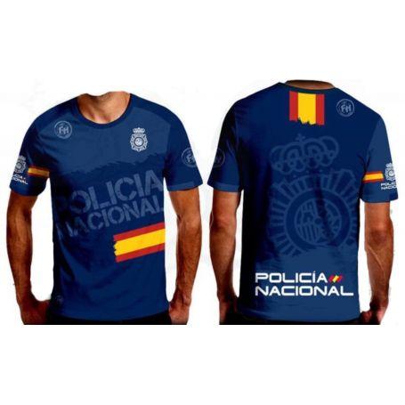 Camiseta Policía Nacional FN Impresa Sublimación
