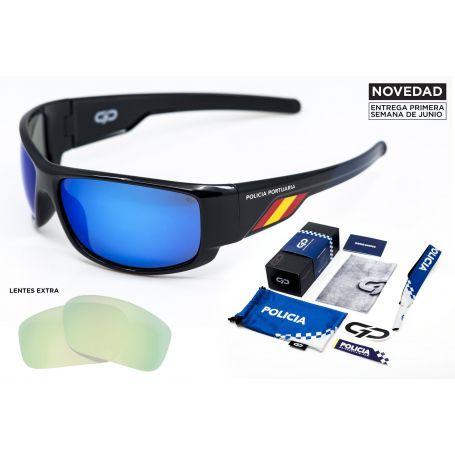 Gafas Policia Portuario Azul Polarizadas Modelo Stinger