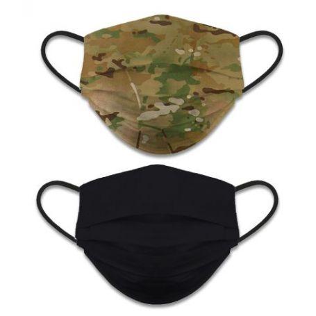 Mascarilla Camuflaje Militar Reversible Negro o Verde Camo