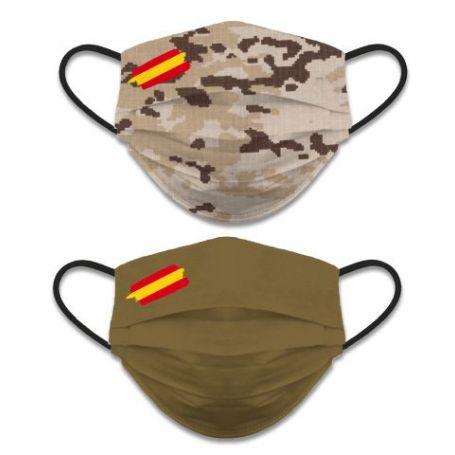 Mascarilla Camuflaje Militar Arida Reversible
