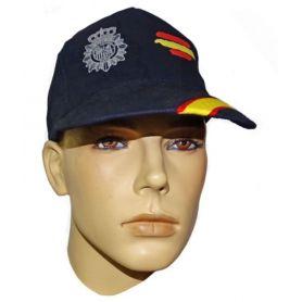 Gorra Policía Nacional con bandera España