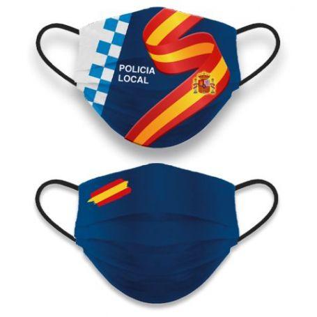 Mascarilla Policia Local Reversible
