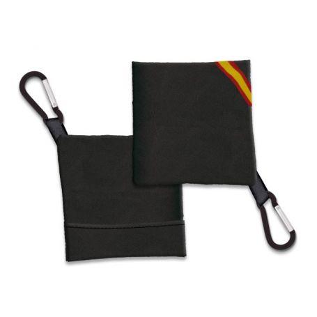 Porta Mascarilla Negro con bandera España