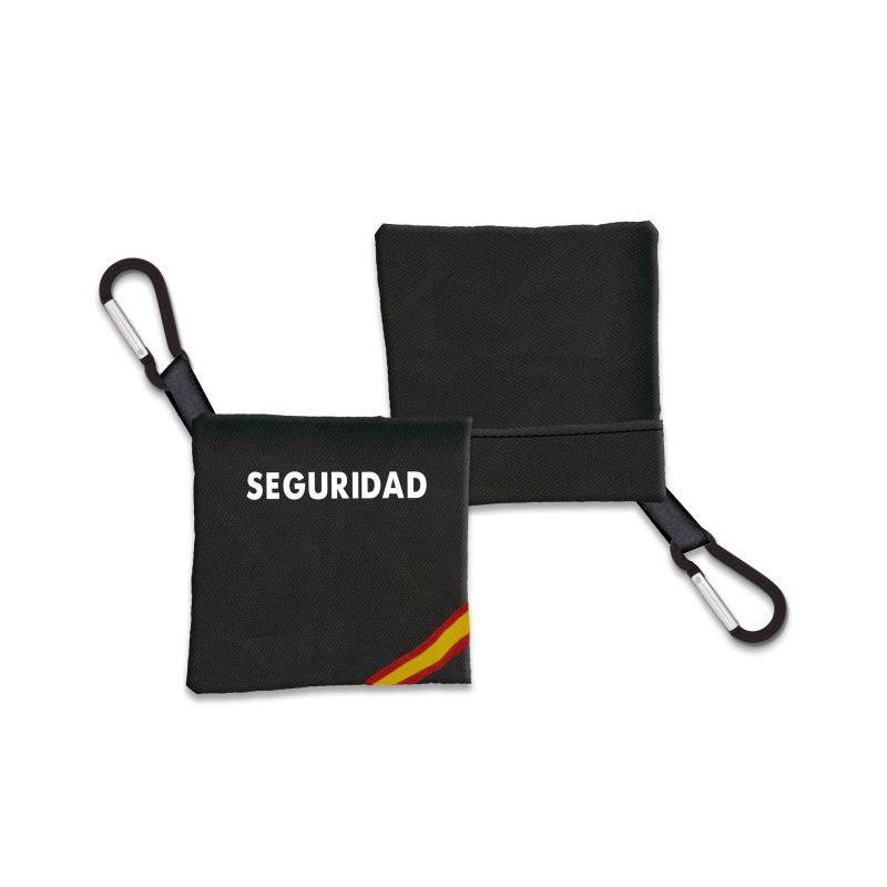 Portamascarilla Seguridad Negro Bandera