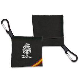 Portamascarilla Policia Nacional Negro Bandera