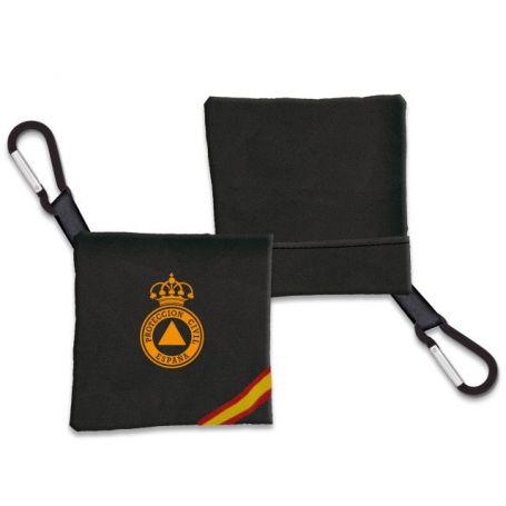 Portamascarilla Proteccion Civil Negra