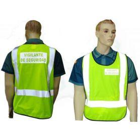 Chaleco Vigilante Seguridad Reflectante