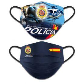 Mascarilla Policía Nacional Higiénica Reversible