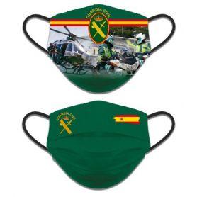 Mascarilla Guardia Civil Higiénica Reversible GC