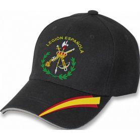 Gorra Legion Española Ajustable Negra