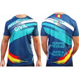 Camiseta Guardia Civil Todo Color Azul y Verde