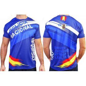 Camiseta Policía Nacional Todo Color Alta Calidad