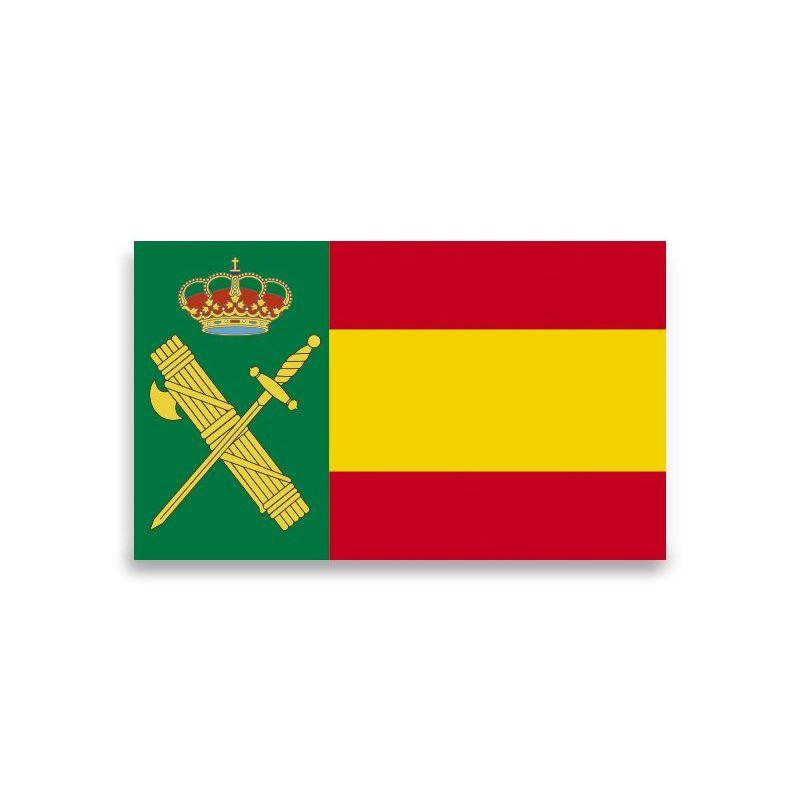 Pegatina Gota Cera Guardia civil España Grande 45x27 mm