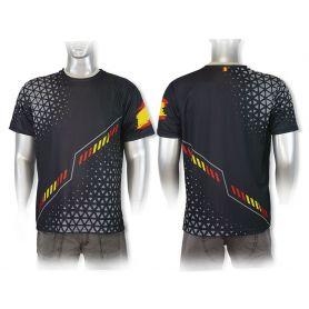 Camiseta Negra España Ajuste Deportivo