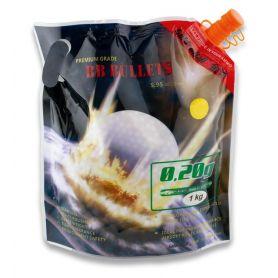 Bolas Airsoft Blancas Biodegradables Compacta 0,20 Gramos