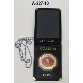Tarjetero Guardia Civil para colgar placa oficial (CON PLACA)
