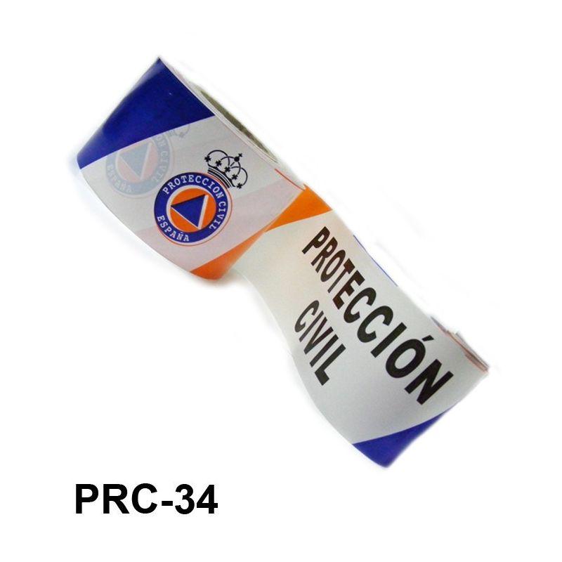 Metro de cinta balizamiento Protección Civil rollo de 250 metros (0.19 € mtro)