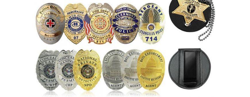 Chapa Insignias Policial, Militar, Emergencias, Vigilante Seguridad